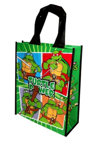 Vandor 38073 Teenage Mutant Ninja Turtles Small Recycled Shopper Tote, Multicolor