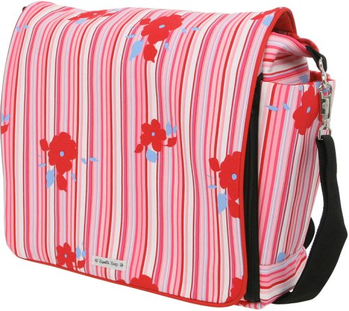 Bumble Bags Jessica Messenger Backpack Rosey Stripe