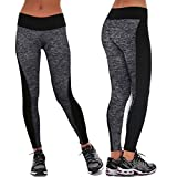 Gillberry Women Sports Trousers Athletic Gym Workout Fitness Yoga Leggings Pants (L, Gray)