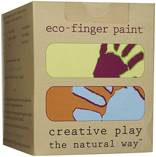 Finger Paint - Eco Kids Non-Toxic Natural Paint - Safe Art Product 5 (4oz) Containers