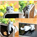 HOT 1pc Cheese Tabby Cat 3.5mm Anti Dust Earphone Jack Plug Stopper Cap for Iphone HTC 6 Style