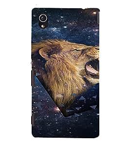 PrintVisa Beautiful Animal Lion Design 3D Hard Polycarbonate Designer Back Case Cover for Sony Xperia M4 Aqua