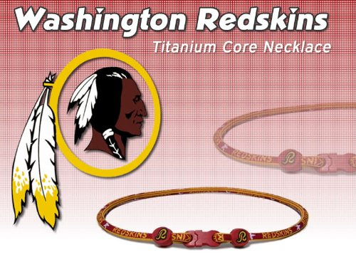 Washington Redskins Titanium Core Sport Necklace NFL Celebration Sale! Size 21 Inch