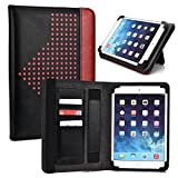 Flame Red Universal Tablet Case 7""