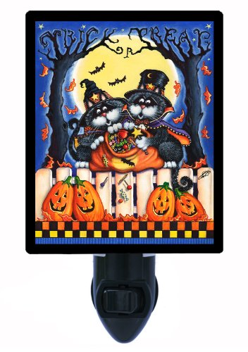 Halloween Night Light - Halloween Candy Is Dandy - Cats And Pumpkins front-1017458