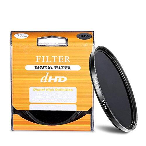 Neewer® Filtre IR 77mm 650nm Infrarouge Photographie Qualité Optique pour Canon Nikon Pentax Olympus