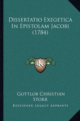 Dissertatio Exegetica in Epistolam Jacobi (1784)