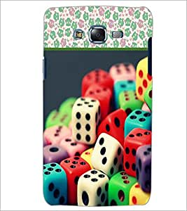 PrintDhaba Dices D-3611 Back Case Cover for SAMSUNG GALAXY ON 7 (Multi-Coloured)