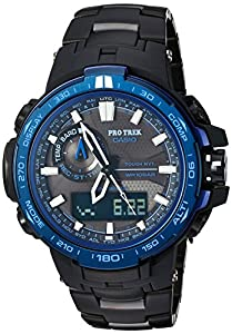 Casio Men's 'Pro Trek' Quartz Stainless Steel and Titanium Sport Watch, Color:Black (Model: PRW-6000SYT-1CR)