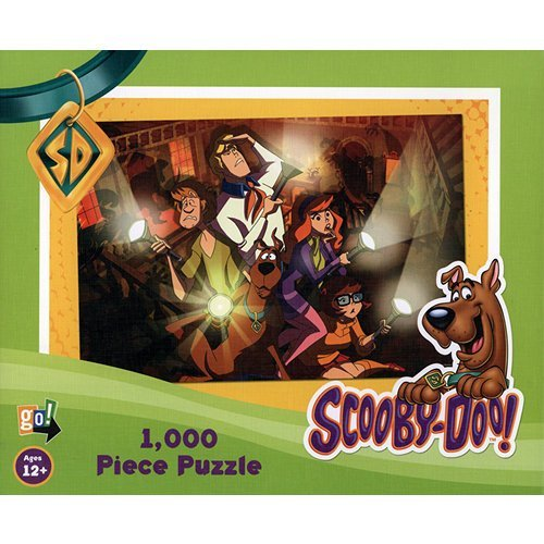 Scooby-Doo 1,000 Piece Jigsaw Puzzle - Gang With Flashlights In Haunted House