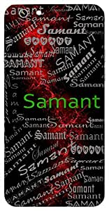 Samant (Universal Whole) Name & Sign Printed All over customize & Personalized!! Protective back cover for your Smart Phone : Samsung Galaxy S5mini / G800