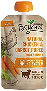 Purina Beyond Natural Wet Dog Food, Chicken & Carrot Puree, 3.2-Ounce Pouch, Pack of 1