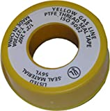 LASCO 11-1029 1/2-Inch by 260-Inch Yellow PTFE Tape For Gas Line, Extra Heavy