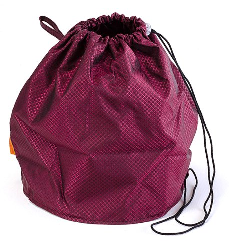 Ruby Red Jewel Large GoKnit Pouch Project Bag w/ Loop & Drawstring from KnowKnits