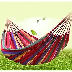 Portable 2 persone, da esterno, in tela, motivo spiaggia, campeggio, giardino, amaca Da viaggio