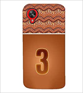 PrintDhaba Numerology Number 3 D-3635 Back Case Cover for LG GOOGLE NEXUS 5 (Multi-Coloured)