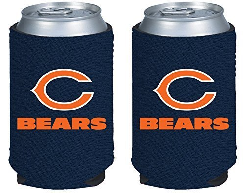 NFL Football 2014 Team Color Logo Can Kaddy Holder Cooler 2-Pack (Chicago Bears) (Can Holder Cooler compare prices)