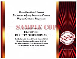 Pointless Certification Certificate (Duct Tape Repairman)