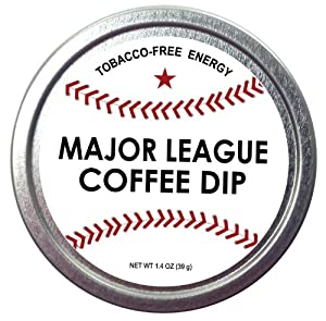 Major League Coffee Dip Quit Chewing Tin Can Non Tobacco Nicotine Free Smokeless Alternative to Chew Snuff Snus Leaf Los Angeles Angels of Aneheim Oakland Athletics Seattle Mariners Texas Rangers Cleveland Indians Detroit Tigers Minnesota Twins Kansas City Royals Chicago White Sox Toronto Blue Jays Baltimore Orioles Tampa Bay Rays Boston Red Sox New York Yankees Washington Nationals New York Mets Philadelphia Phillies Atlanta Braves Florida Miami Marlins Milwaukee Brewers St. Louis Cardinals Chicago Cubs Pittsburgh Pirates Cincinnati Reds Houston Astros Arizona Diamondbacks Los Angeles Dodgers San Francisco Giants San Diego Padres Colorado Rockies