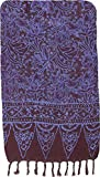 Purple & Brown Artisan Batik Sarong