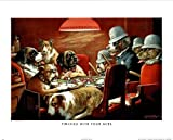 Coolidge Dogs Playing Poker at Table Art Print POSTER - 16x20