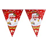 FunRobbers Christmas Decorations Supplies Hanging Santa Clauss / Merry Christmas Flags Banners Bunting Paper Decorations...
