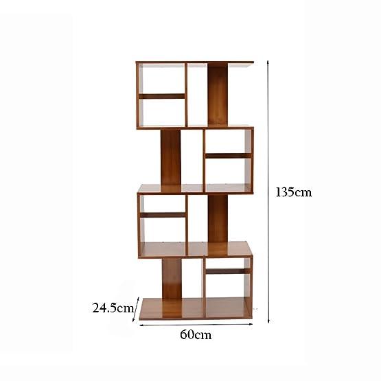 XIAOXIAO Combinazione di scaffali di stoccaggio creativo in legno massello di tipo solido multifunzionale S Bookshelf Facile da spostare ( dimensioni : 60*24.5*135cm )