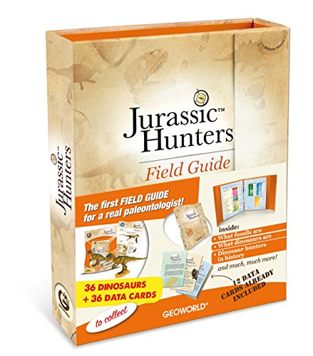 Geoworld Jurassic Hunters Field Guide and Cards - English