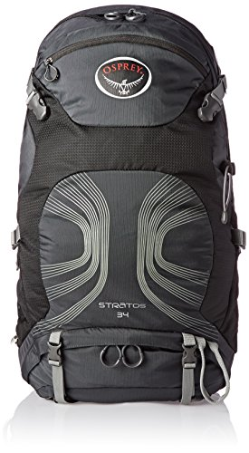 Osprey Packs Stratos 34 Backpack, Anthracite Black, Medium/Large