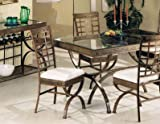 Set of 4 Egyptian Brown Metal Frame Dining Room Chair/Chairs w/Cushion Seats