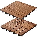 Dalles terrasse en bois casa pura® Ranger | SET de 11 ou 33 pièces disponibles - bois d'acacia | stabilisées UV | 11 pièces (1m²)