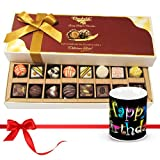 Chocholik Luxury Chocolates - New Collection Of Dark And White Chocolates Treats With Birthday Mug