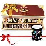 Chocholik Luxury Chocolates - New Collection Of Dark And White Chocolates Treats With Birthday Mug