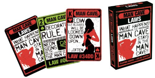 Man Cave Laws Playing Cards - 1