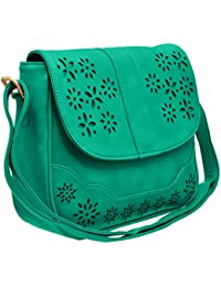 Tap Fashion Fancy Stylish Elegant Cut-work Sling Bag Cross Body Purse For Women & Girls.