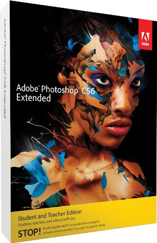Adobe Photoshop Extended CS6 Student and Teacher Edition Mac