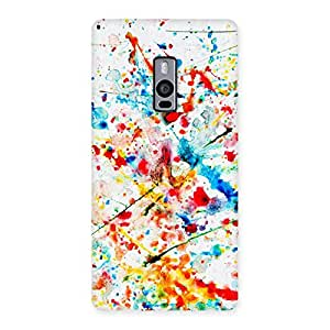 Enticing Paint Scribble Multicolor Back Case Cover for OnePlus Two