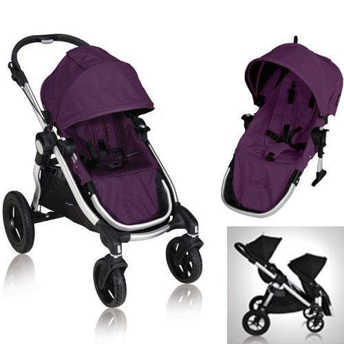 Baby Jogger 2011 City Select Stroller in Amethyst (Purple) With Second Seat