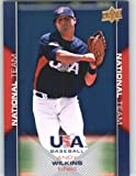 2009-10 Upper Deck USA Baseball Card # USA-21 Andy Wilkins Rookie / Prospect Team USA - National Team / Arkansas ) MLB Trading Card in