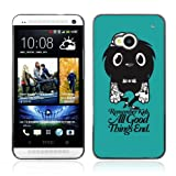 Colorful Printing (Funny Cute Tattoo Monster) Aluminum Metal and Hard Plastic Hybrid Back Case for HTC ONE / M7