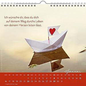 Was ich dir von Herzen wünsche 2017: Dekorativer Wandkalender mit Monatskalendarium