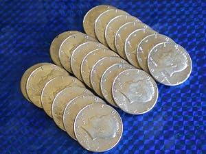 1967 Kennedy Half Dollar Roll of 20 Uncirculated 40% Silver Coins