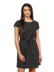 Mayra Women's Crepe Dress (1604D19310_L Black )
