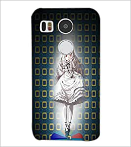 PrintDhaba Cute Girl D-4505 Back Case Cover for LG NEXUS 5X (Multi-Coloured)