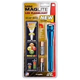 Maglite SP2211H Mini Maglite 2AA Multimode LED Torch 17 cm with Max. 31 Hours Battery Life Incl. 2 AA Batteries and Nylon Holster Blue