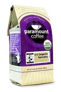 Paramount Fair Trade Organic Sumatra Bean, 10-Ounce Bags (Pack of 3)