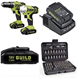CORDLESS 18V LITHIUM TWIN PACK X1 18V COMBI HAMMER DRILL X1 18V IMPACT DRIVER X2 LITHIUM SAMSUNG BATTERYS FAST CHARGER TOOL BAG *PLUS BONUS 100 PIECE SECURITY SET COMPLETE PACKAGE