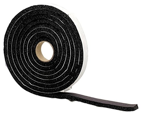 M-D Building Products 6593 Sponge Rubber Tape, 1/4-by-3/4-Inch-by-10 feet (Closed Cell), Black (Automotive Rubber Window Seal compare prices)