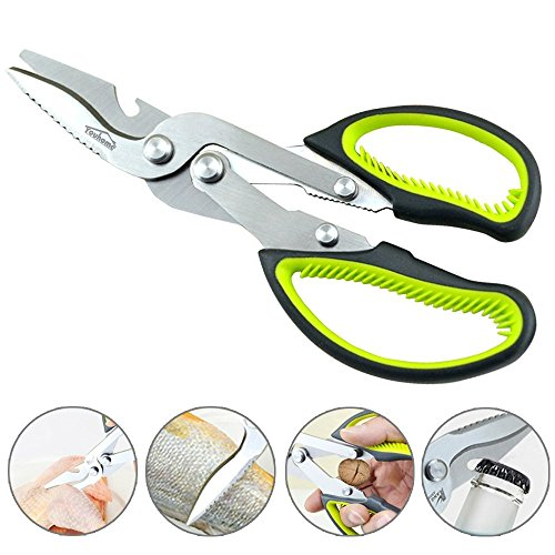 Heavy Duty Kitchen Scissors, Multi-Purpose Stainless Steel Shears Shears for Chicken, Poultry, Fish, Meat, Vegetables, Herbs, BBQ's and Bottle Can Opener (Meat Bone Cutter compare prices)