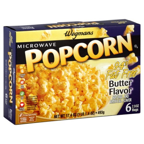 Wgmns Microwave Popcorn, Butter Flavor, 94% Fat Free , 17.4 Oz